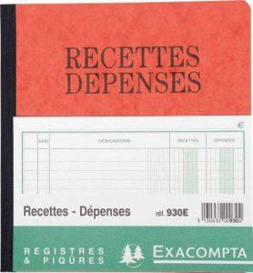 Exacompta - Réf. 930E - Piqûre Recettes-Dépenses - 21x19cm - 80 pages - Couleur Aléatoire de la marque Exacompta image 0 produit