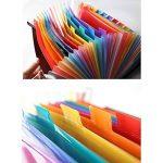 Expanding File Folder – GossipBoy Grande Plastique Rainbow Trieur Extensible Self Debout Accordéon Document A4 Fichier Wallet Briefcase Business Boite de Classement – 24 Poches (C1) de la marque GossipBoy image 3 produit