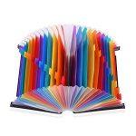 Expanding File Folder – GossipBoy Grande Plastique Rainbow Trieur Extensible Self Debout Accordéon Document A4 Fichier Wallet Briefcase Business Boite de Classement – 24 Poches (C1) de la marque GossipBoy image 2 produit
