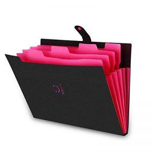 Expanding File Folder Yigou Letter A4 Paper Pockets Organisateur de document d'accordéon, 5 poches de la marque Yigou image 0 produit