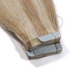 Extension Adhesive en Cheveux Naturel Bande Adhesive 20 Pcs - Tape in Human Hair Extensions - #18+613 Sable blond Méché Blond très clair - 18 Pouces/45cm de la marque Rich Choices image 2 produit