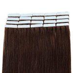 Extension Adhesive Naturel 20 Pcs Extensions Adhesives Cheveux Naturels Cheveux Humain - Tape in Human Hair Extensions Remy Hair (40CM, 18+613 SABLE BLOND MECHE BLOND CLAIR) de la marque Elailite image 3 produit
