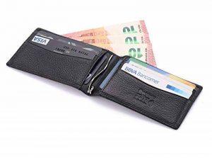 flintronic Bifold Portefeuille en Cuir, Mince RFID Blocage Porte Carte de Crédit,Pince à Billets Homme de la marque flintronic image 0 produit
