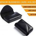 Fyy® 100% fait à la main cuir de haut de gamme support pour cartes de visites et cartes universelles avec fermeture magnétique (peut contenir 30 cartes) Noir de la marque FYY image 4 produit