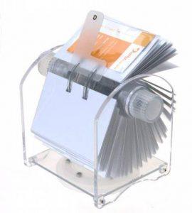Genie Rotator Fichier rotatif pour 400 cartes de visites avec 24 parties registre et 200 pochettes transparentes de la marque Genie image 0 produit