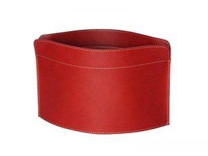 GIUSY: porte-revues en cuir couleur Rouge, porte journaux, sac de rangement, range-revues made in Italy by Limac Design. de la marque Gavemo image 0 produit