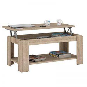 Habitdesign Table basse relevable avec porte-revues intégré, couleur chêne canadien, 102x 50x 43/54cm de hauteur 001639F de la marque Habitdesign image 0 produit