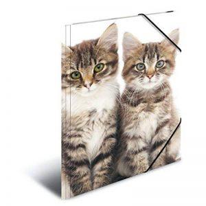 Herma 7138 Farde à rabats A4 en plastique, série animaux – motif chats, avec élastiques, 1pièce de la marque HERMA image 0 produit