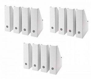 IKEA FLUNS Lot de 12 Range-revues, en carton blanc (Remplacement de FLYT) de la marque I K E A image 0 produit