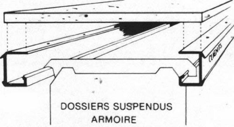Beds & Mattresses Jeu De 2 Rails En Aluminium À Visser Sous Tablette Bois Pour Dossiers Suspendus