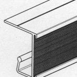 Jeu de 2 Rails en aluminium à visser sous tablette bois pour dossiers suspendus de la marque KIT-CLASS® image 4 produit