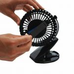 JJLng Ventilateur Personnel Mini-Clip Rechargeable, 4 pouces 3 vitesses, USB Alimenté par NetBook, ordinateur MacBook, Power Bank et PC, 360 ° haut et bas, gauche et droite (noir) de la marque JJLng image 2 produit