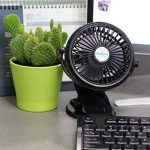 JJLng Ventilateur Personnel Mini-Clip Rechargeable, 4 pouces 3 vitesses, USB Alimenté par NetBook, ordinateur MacBook, Power Bank et PC, 360 ° haut et bas, gauche et droite (noir) de la marque JJLng image 4 produit