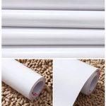 KINLO 3 Rouleaux Stickers Meubles Auto-Adhésif Blanc 5 * 0.61M Imperméable en PVC Stickers Autocollant Étanche pour Armoire de Cuisine Meuble Electroménager Carreaux Mur Verre de la marque KINLO image 3 produit