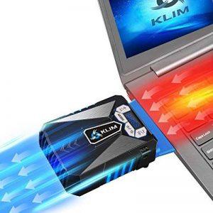 KLIM k29 Cool Refroidisseur PC Portable Gamer [Version 2016] - Ventilateur Haute Performance pour Refroidissement Rapide - Extracteur d'air Chaud USB, Bleu de la marque KLIM image 0 produit