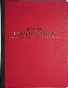 Le Dauphin registre d'objets mobiliers 80 pages Couleurs Assorties de la marque Le Dauphin image 0 produit