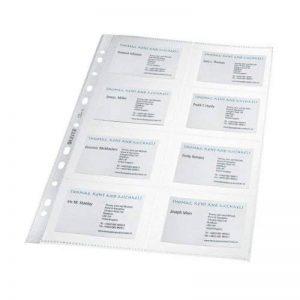 Leitz - 47583003 - Pochettes Transparentes pour Cartes de Visite - A4 - Lot de 10 de la marque Leitz image 0 produit