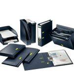 Leitz Boîte de Classement A4, Capacité 250 Feuilles, Dos 3,8 cm, Fermeture Elastique, Bleu Foncé, re:cycle, 46230069 de la marque Leitz image 4 produit