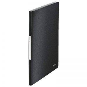 Leitz Reliure Protège-Documents A4, 40 Pochettes, 80 Pages, Pochettes Transparentes, Satin Noir, Style, 39590094 de la marque Leitz image 0 produit