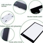 Lictin Tablette Lumineuse LED A4, Planche Dessin LED avec 1 Câble USB, 1 Adaptateur Chargeur EU, 50 A4 Copie Papiers et 1 Pince de La Planche à Dessin de la marque Lictin image 2 produit
