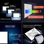 Lictin Tablette Lumineuse LED A4, Planche Dessin LED avec 1 Câble USB, 1 Adaptateur Chargeur EU, 50 A4 Copie Papiers et 1 Pince de La Planche à Dessin de la marque Lictin image 3 produit