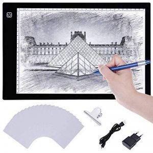 Lictin Tablette Lumineuse LED A4, Planche Dessin LED avec 1 Câble USB, 1 Adaptateur Chargeur EU, 50 A4 Copie Papiers et 1 Pince de La Planche à Dessin de la marque Lictin image 0 produit