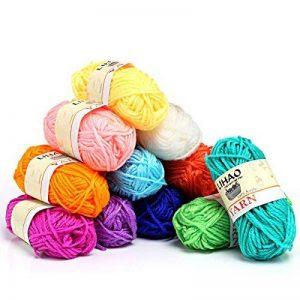 LIHAO Mini Pelotes de Laine Multicolores en Acrylique pour Tricot, Les Loisirs Créatifs - (Lot de 12pcs, 26m/Rouleau, 15g/Rouleau) de la marque LIHAO image 0 produit
