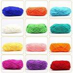 LIHAO Mini Pelotes de Laine Multicolores en Acrylique pour Tricot, Les Loisirs Créatifs - (Lot de 12pcs, 26m/Rouleau, 15g/Rouleau) de la marque LIHAO image 1 produit
