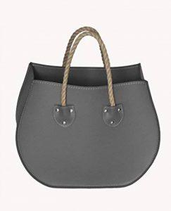 LIRA: porte-revues en cuir couleur Gris Anthracite, porte journaux, sac de rangement, range-revues, Made in Italy by Limac Design. de la marque Gavemo image 0 produit
