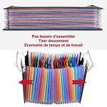 LOETAD Trieur à Soufflets Classeur Rangement Papier Chemise Trieur Plastique A4 Documents Extensible Avec 24 Compartiments de la marque LOETAD image 2 produit
