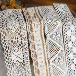 Lot de ruban (20m) assortis en coton, mariage, bords détaillés, crochet par RayLineDo® de la marque RayLineDo image 3 produit