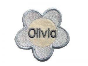 Love2Embroider Patch fleur nominatif personnalisé à coudre ou fixer au fer à repasser 7 x 7 cm de la marque Love2Embroider image 0 produit