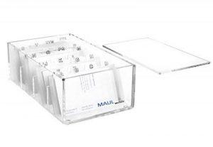 MAUL Trieur de cartes de visite acrylique avec un registre alphabétique A-Z 11,4 x 19 x 7 de la marque MAUL image 0 produit