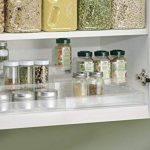 mDesign étagère à épices – etagere a epice extensible – porte epice pour épices, condiments, aliments, etc. – 3 niveaux – en PVC – transparent de la marque MetroDecor image 2 produit