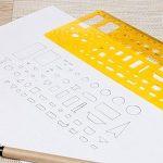 Meetory Lot de 9modèles de dessin d'Architecture, dessin technique Pochoirs Outil, Français Curve Règle pour studio artistique au bureau et à l'école de la marque Meetory image 4 produit
