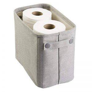 MetroDecor mdesign Boîte de rangement en coton pour le bain pour magazines, papier toilette, serviettes–Grand, Gris clair de la marque MetroDecor image 0 produit