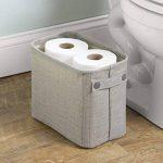 MetroDecor mdesign Boîte de rangement en coton pour le bain pour magazines, papier toilette, serviettes–Grand, Gris clair de la marque MetroDecor image 2 produit