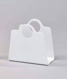 Meubletmoi Porte-revues Sac Blanc Bois - Range-Magazines Design Moderne - Handbag Blanc de la marque Meubletmoi image 0 produit