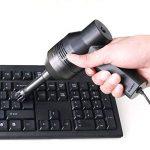 Mini Aspirateur USB clavier d'ordinateur de bureau Outil de collection pour aspirateur avec brosse pour la poussière Pain papier Scrap Cigarette Ash particules d'ordinateur portable PC Sacs de maquillage pour animal domestique Maison, etc. noir de la marq image 3 produit