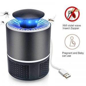Mosquito Zapper Killer USB Silencieux - Portable Portable Insect Killer USB Alimenté Soft Light Insecte Insecte Bug Zapper Noir de la marque IREENUO image 0 produit