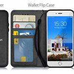 MyGadget Flip Case PU Cuir Support pour Apple iPhone 6/6s Plus Coque magnétique Détachable - Portefeuille Ultra Fin & Léger - Housse Anti Choc Noir de la marque MyGadget image 2 produit