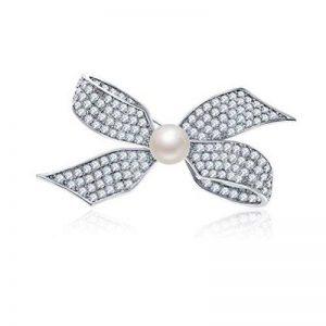 Nœud papillon Perle de cristal Broche Cadeau pour Femme ami Wife Sister Mother Daughter de la marque Missrui image 0 produit