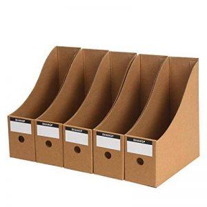OFFIDIX Bureau 5 Niveaux Papier Kraft Boîte de rangement pour bureau A4 Document Holde Organisateur de papier à tiroir pour le bureau de maison Bricolage Conteneur de papier Classeur de stockage de l'élève Cabinet de stockage du tiroir Cubbyhole One Size image 0 produit