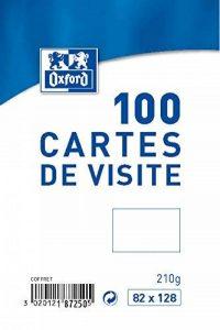 Oxford Coffret de 100 Cartes de visite 8,2 x 12,8 cm Blanc de la marque Oxford image 0 produit