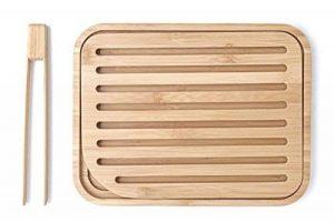 Pebbly NBA055 Set Planche à Pain et Pince à Toast Bambou Beige 26x20x2 cm 2 unité(s) de la marque Pebbly image 0 produit