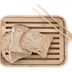 Pebbly NBA055 Set Planche à Pain et Pince à Toast Bambou Beige 26x20x2 cm 2 unité(s) de la marque Pebbly image 1 produit