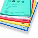 perfect line 50 pochettes coin colorées, format A4, ouverture en coin, pochettes plastiques colorées, idéales pour protéger papiers et documents de la marque perfect line image 3 produit