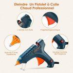 Pistolet à Colle Chaud Thermofusible Industriel avec 12PCS Bâtons de Colle (11mm*150 mm) - TOPELEK Pistolet Kit pour Bricolage et Réparations à la Maison ou DIY et Artisanat (100 Watts, Vert ) de la marque TOPELEK image 3 produit