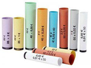 Plaquette pour monnaies Euro tubes de papier préemballés Euro Cent–Kit 1020tubes papier Porte-monnaie mixtes (10rangées de tubes pour chaque coupe monnaie euros) de la marque Orfix image 0 produit