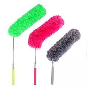 Plumeau Poussière,Plumeau Microfibre avec Poteau Extensible Pliable pour la Maison le Bureau et les Voitures 3packs de la marque QH-Shop image 0 produit